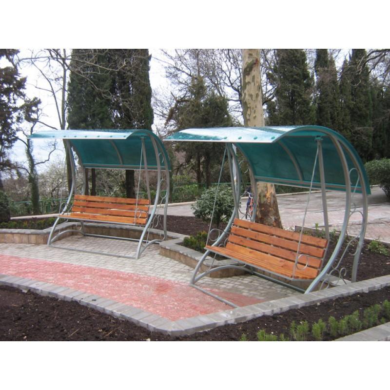 Скамейки с навесом из поликарбоната, Ялта, 2010 год,