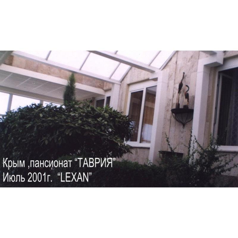 "Зимний сад из поликарбоната, пансионат ""Таврия"", ТМ Lexan, 2001 г."