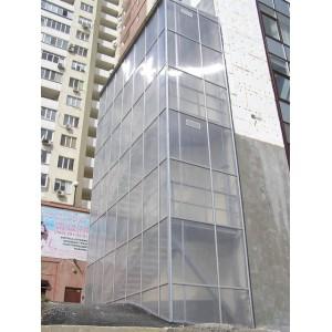 Фасад из поликарбоната, 2012г