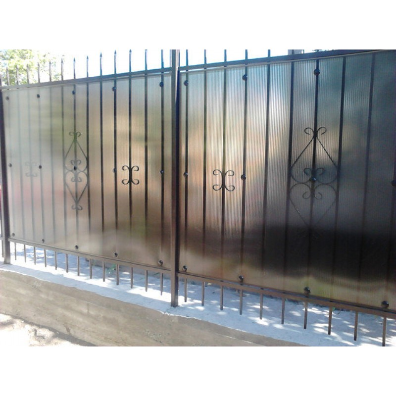 Забор из поликарбоната, 2013г.
