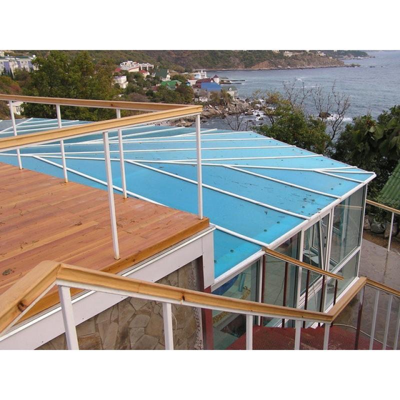 Павильон для бассейна из сотового поликарбоната