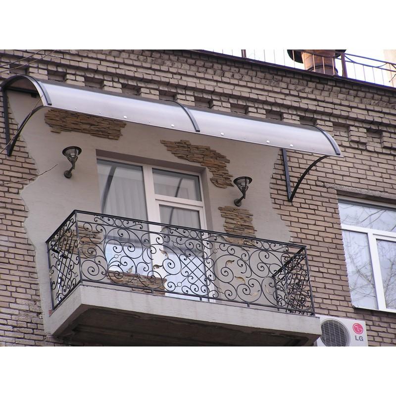 Козырек из поликарбоната, 2005г.