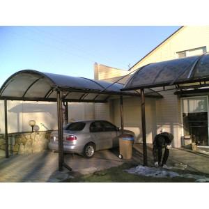 Навес для авто, 2008 г., поликарбонат Stronex
