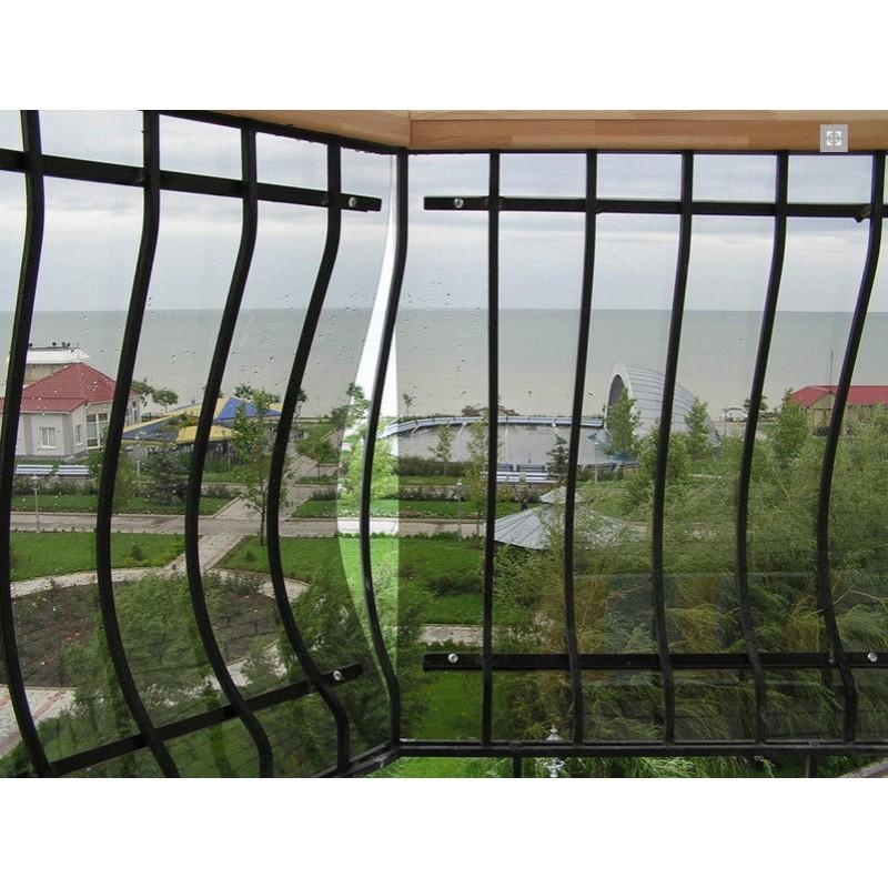 Балконное ограждение из монолитного поликарбоната, 2006 г.