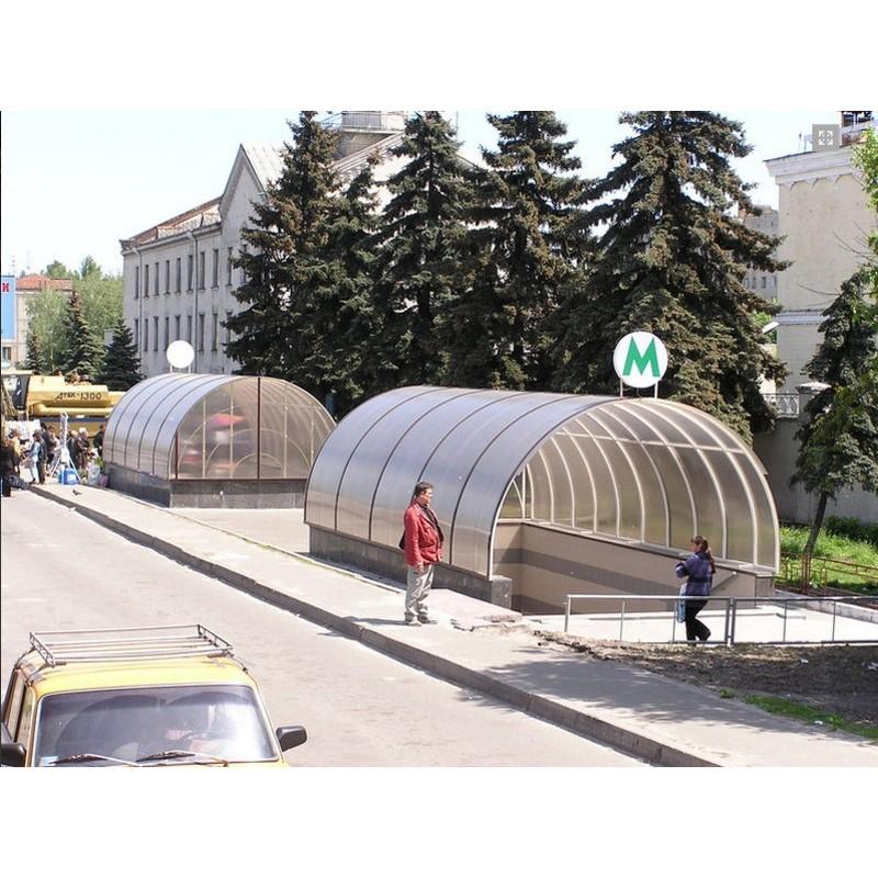 Навесы над входом в ст. метро Святошин и Теремки (г.Киев)