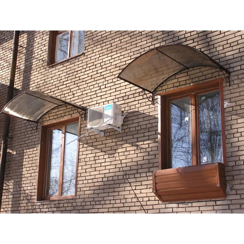 Козырьки над окнами, 2012 год, сотовый поликарбонат