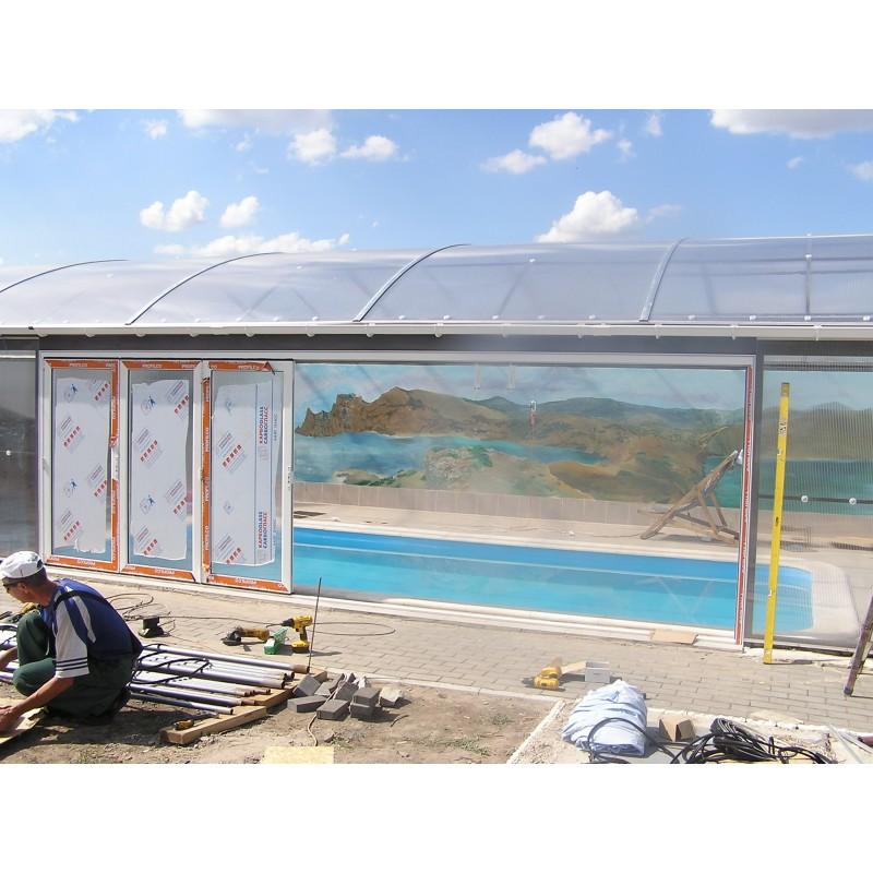 Павильон для бассейна с раздвижными боковыми панелями, 2012 г.
