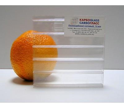 Сотовый поликарбонат КАРБОГЛАСС 16 мм прозрачный