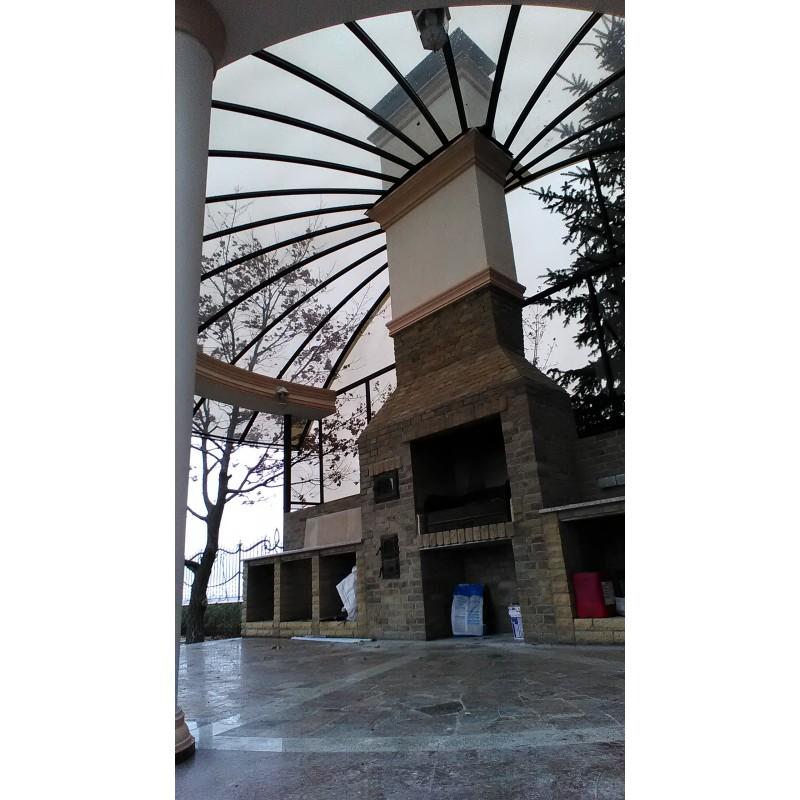 Навес из монолитного поликарбоната, Симферополь, ТМ Карбогласс, 2018
